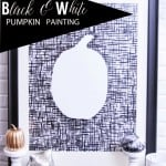 Black & White Pumpkin Painting