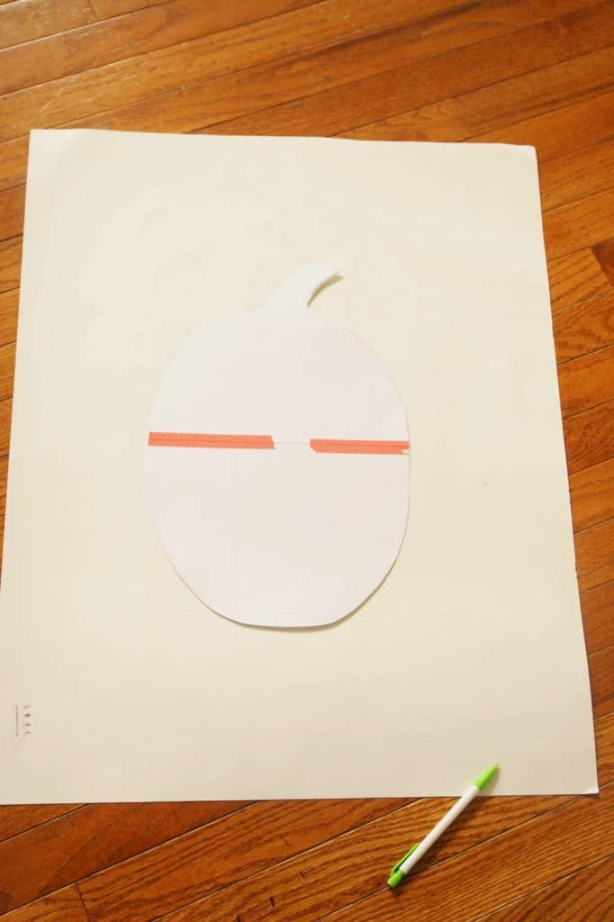 white posterboard and pumpkin silhouette