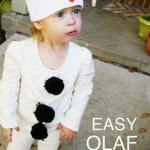 Make A DIY Olaf Costume in 30 Minutes!