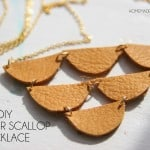 DIY Leather Scallop Necklace