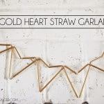 Gold Heart Straw Garland