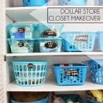 Dollar Store Closet Makeover