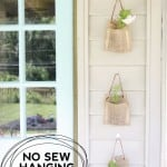 No Sew Hanging Planters