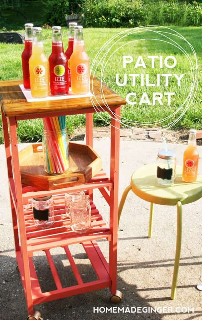 Patio utility cart makeover