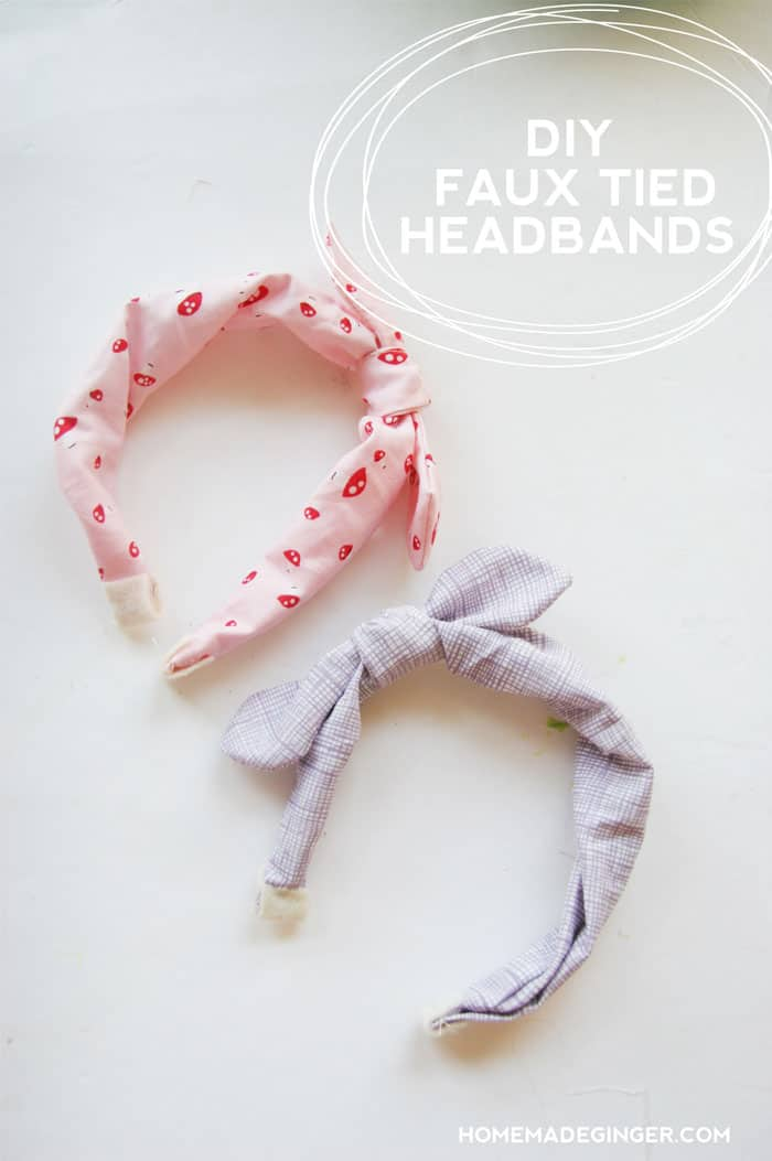 Make some faux tied headbands...perfect for both kids and adults!