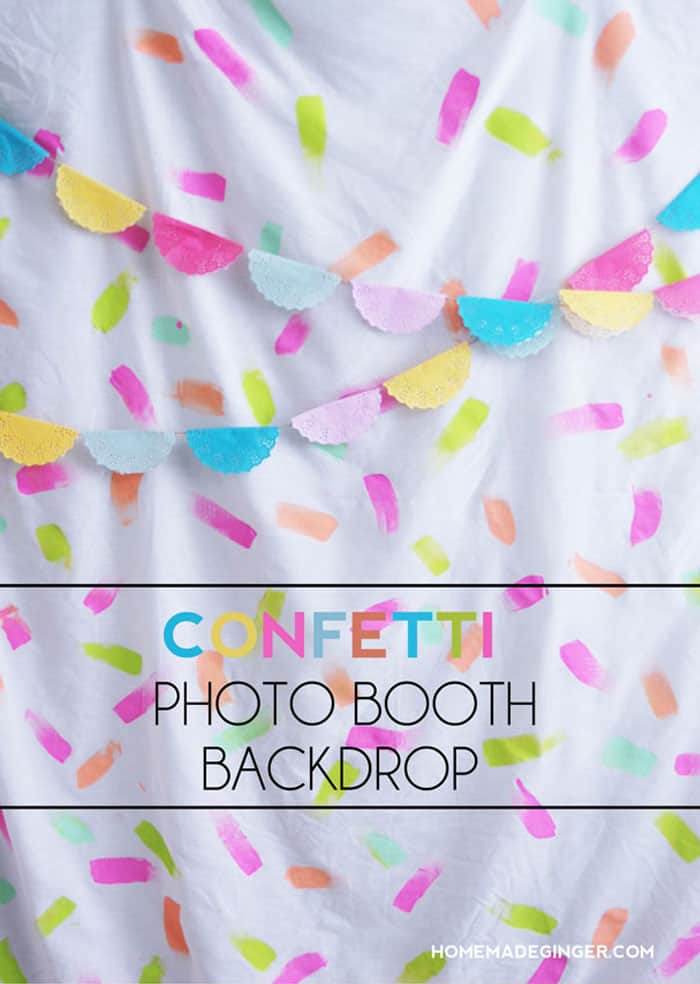 Photo booth birthday background