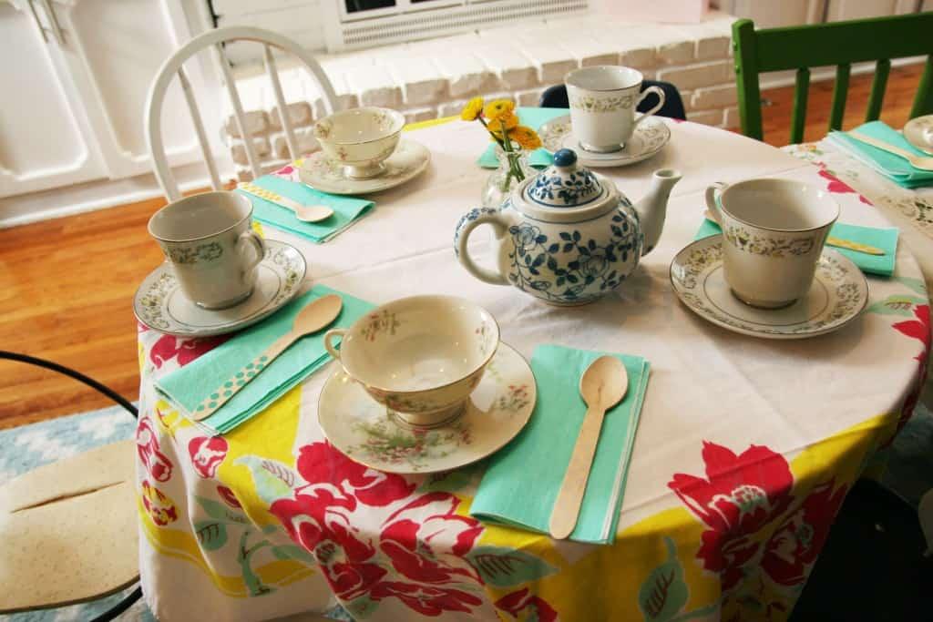 DIY Vintage Tea Party Birthday
