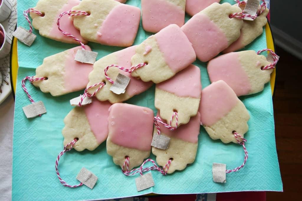 Tea Bag Cookies for a tea party birthday