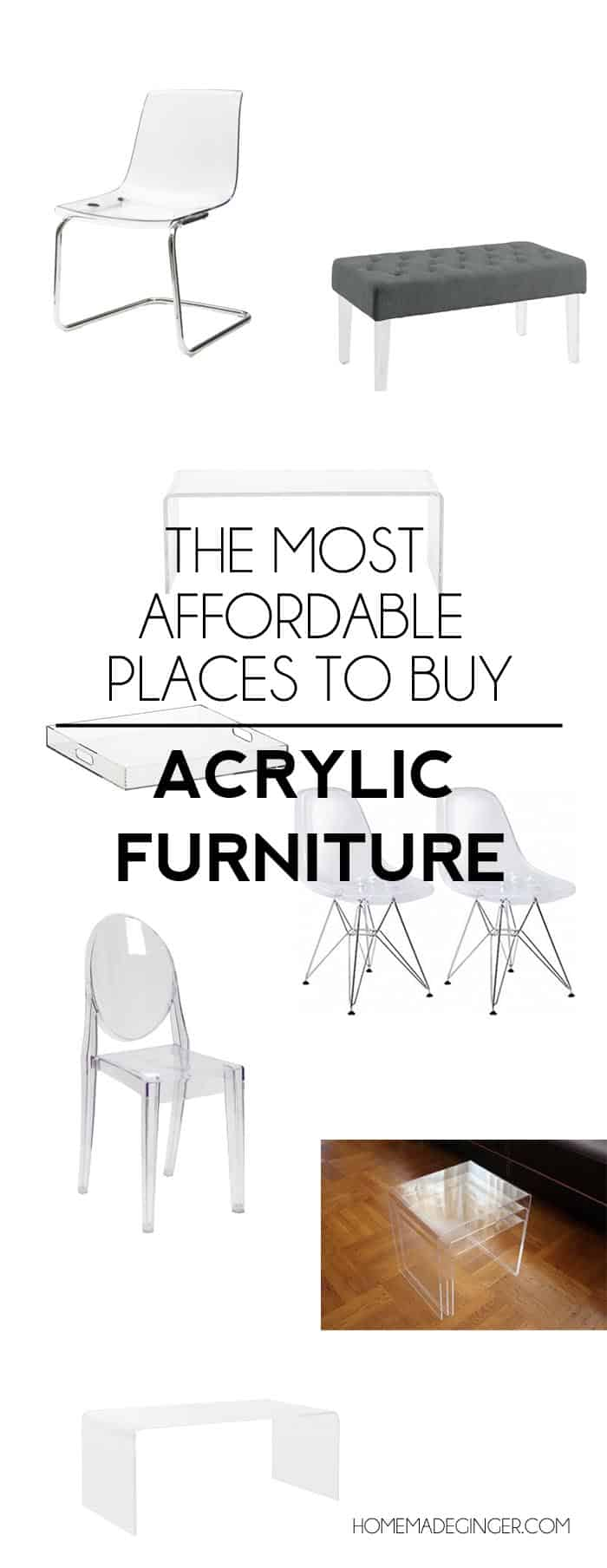 THE MOST AFFORDABLE PLACES TO BUY ACRYLIC FURNITURE1