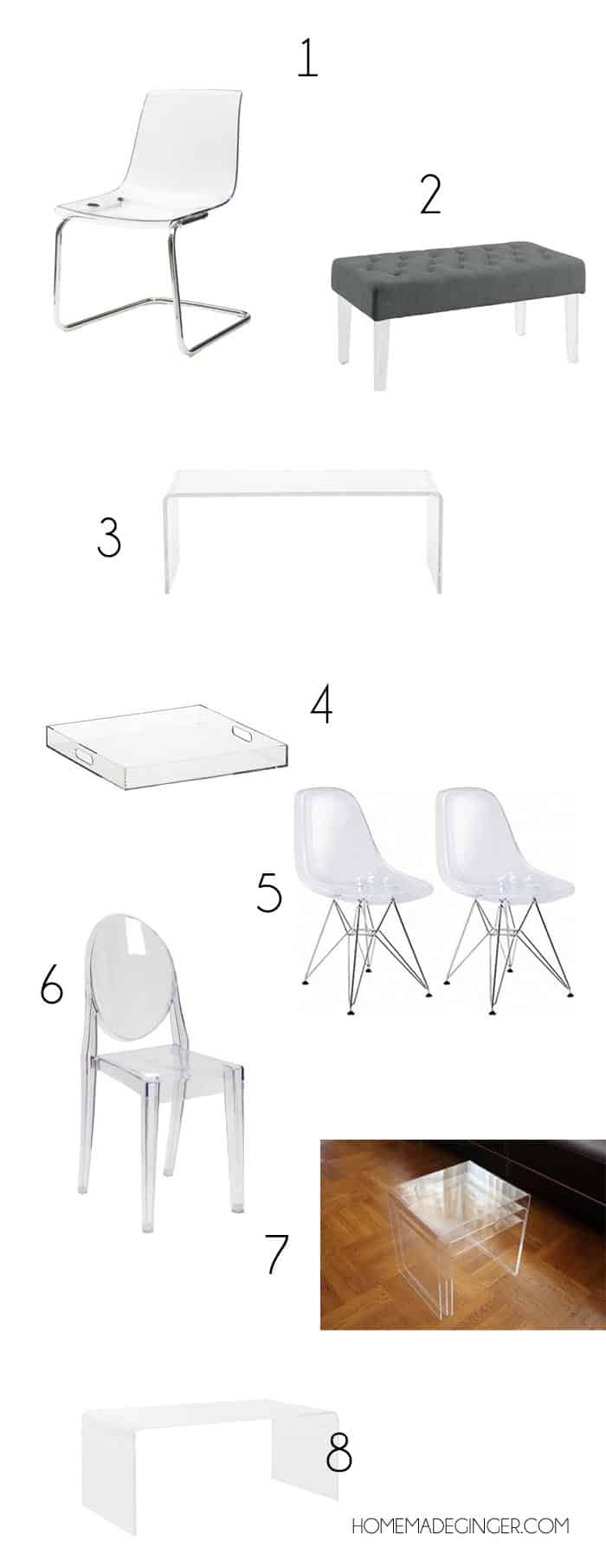 THE MOST AFFORDABLE PLACES TO BUY ACRYLIC FURNITURE2