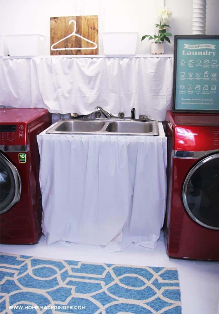 laundry room makeover progress