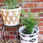 DIY Tribal Painted Baskets