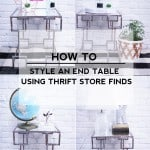 How To Style An End Table Using Thrift Store Finds