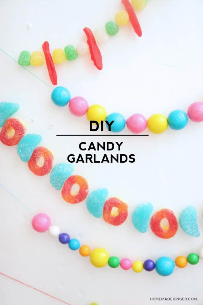 Make some DIY garlands using candy! These are so easy and festive, the hardest part will be not eating it all!