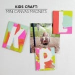 Kids Art Ideas: Mini Canvas Magnets