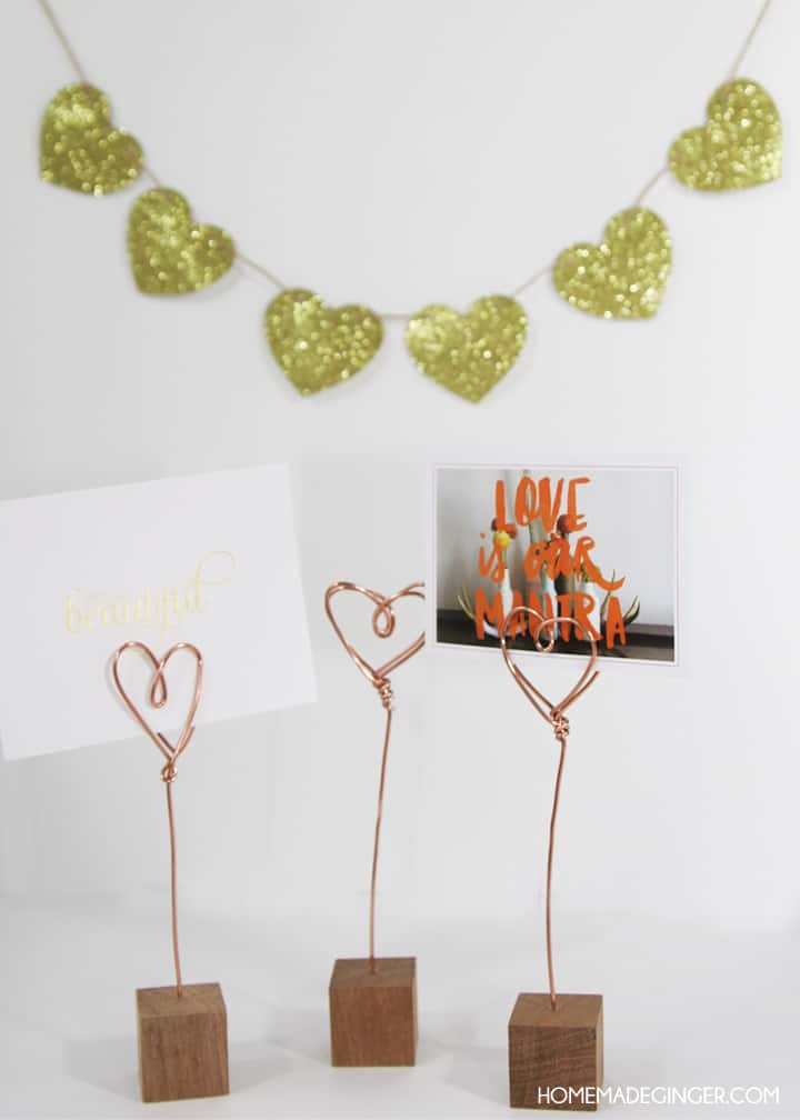 copper wire craft ideas s crafts copper wire photo holders 3701
