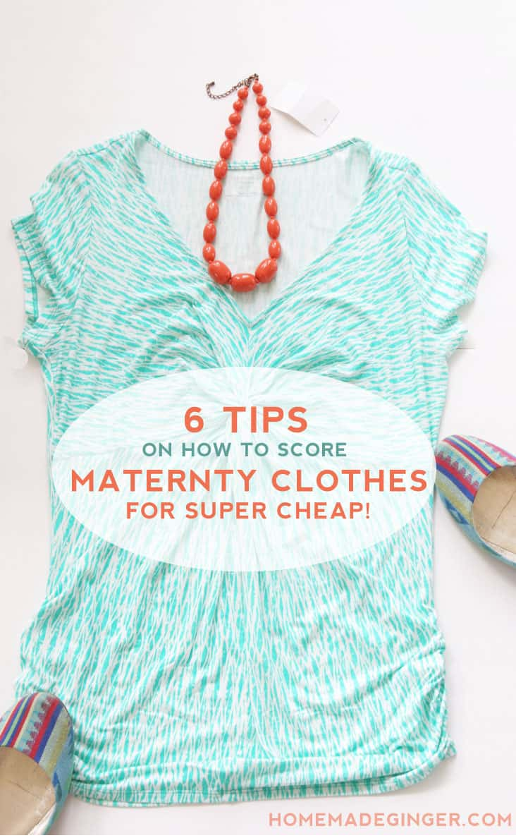6 Tips on how to score pregnant fashion items for super cheap or free! Never pay a fortune for maternity clothing again!