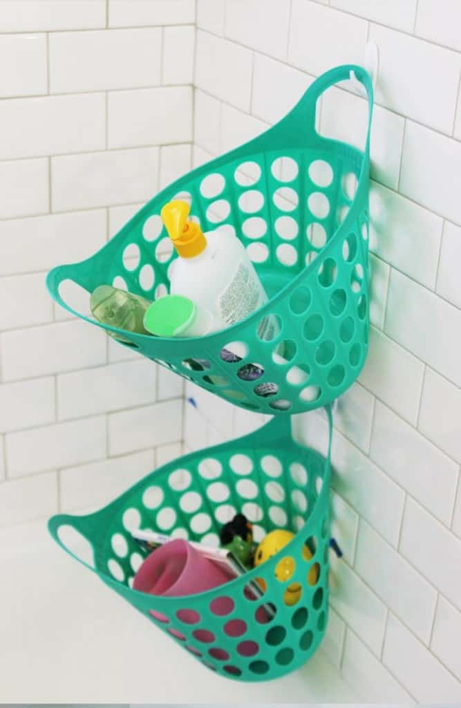 More Shower Storage with Bin (In Pretty Colors, Too)