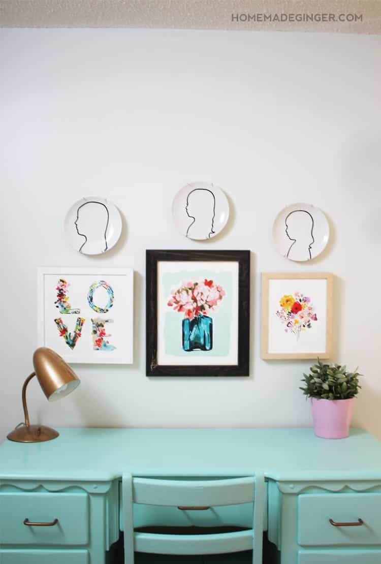 Create some modern silhouette art using white plates and a paint pen! It couldn't be easier.