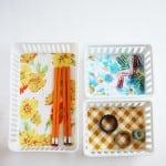 DIY Organizing: Vintage Fabric Baskets