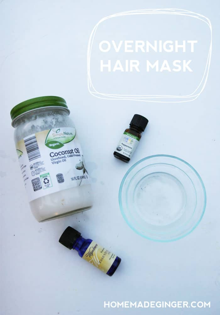 This coconut oil hair mask is so easy and will leave your hair feeling AMAZING!!
