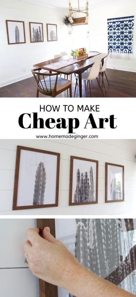 Learn how to make some large scale cheap art for your home! This is a great project for budget home decor!