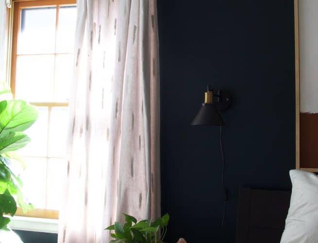 DIY Drop Cloth Curtains | One Room Challenge Week 5