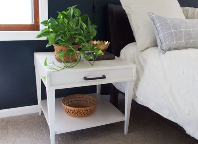 DIY Side Table Faux Drawer