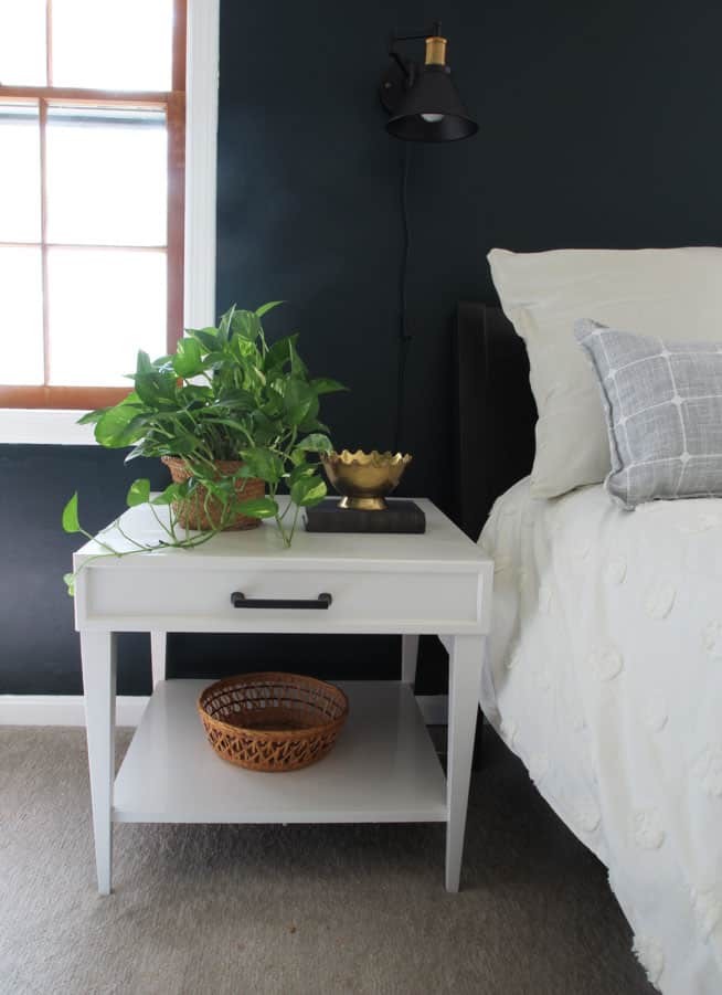 This DIY Side table makeover is so easy to do. Transform any table by making a faux drawer! This is such a great DIY furniture project for beginners.