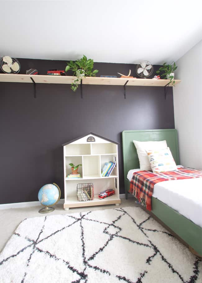 How To Paint The Perfect Black Accent Wall Homemade Ginger