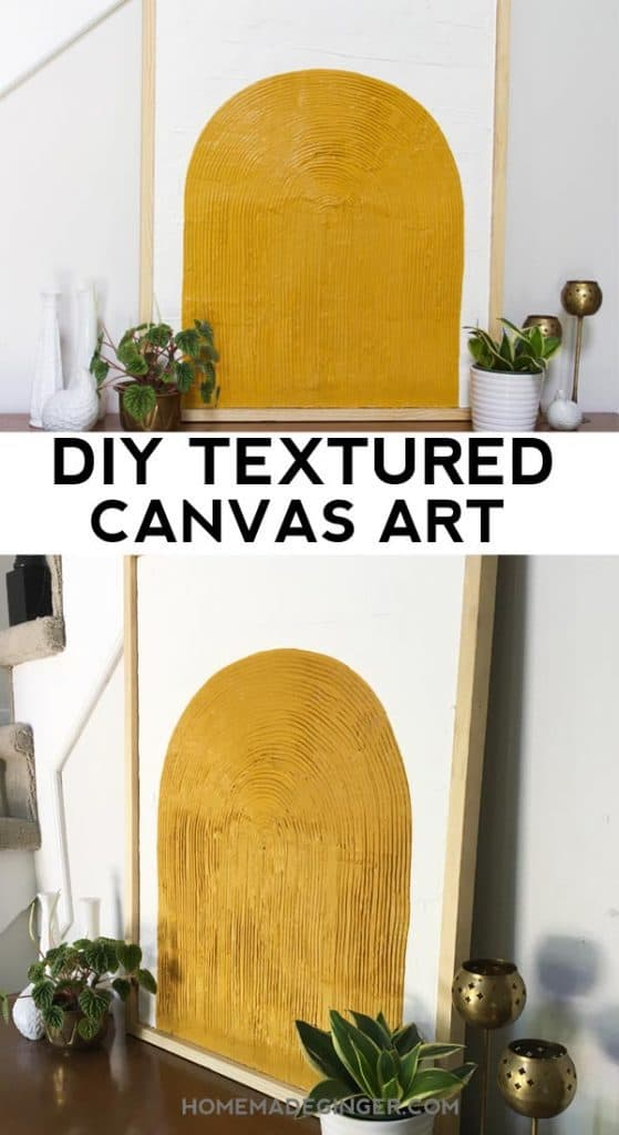 Learn how to make a textured canvas painting with a modern color block feel.